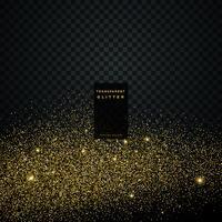 partícula dorada brillo celebración fondo