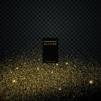 particle golden glitter celebration background