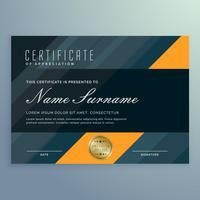 Oscuro certificado de apreciación plantilla diseño vectorial