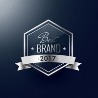 Årets bästa varumärke silver lyx realistiska etiketten