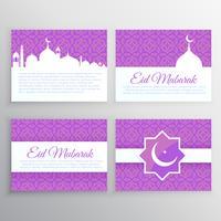 muslimische Festivalkartensatz
