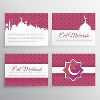 eid mubarak karten gesetzt