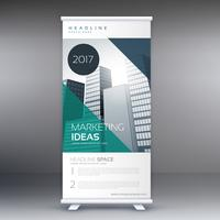 modern roll up stand banner mall