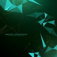 Triángulo abstracto fondo poli en estilo futurista