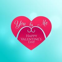 Happy Valentijnsdag achtergrond met hart vorm