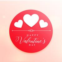 glückliche Valentinstagillustration mit weißen Herzen