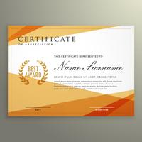 geometric certificate design template