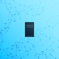 fondo blu di scienza del wireframe digitale
