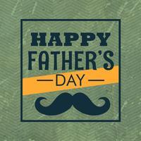 glücklicher Vatertag mit Schnurrbart