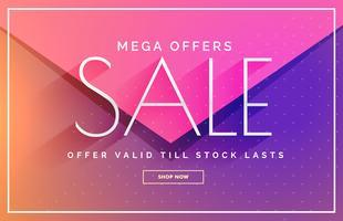 elegant försäljning banner voucher mall design i rosa och lila s