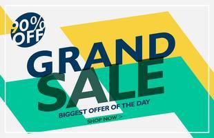 Grand Sale Banner design för din företagsannonsering