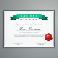 clean certificate design template award diploma background