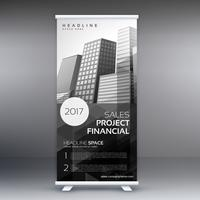 abstracte oprollen presentatiebanner sjabloon voor reclame