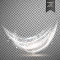 Fondo de efecto de luz blanca transparente