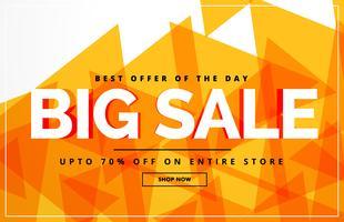 gele abstracte grote verkoop banner of voucher ontwerpsjabloon