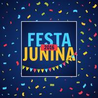festa junina feestfestival met confetti