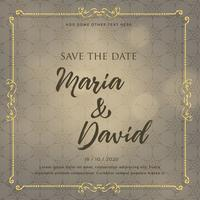 wedding invitation card design with decorative elements