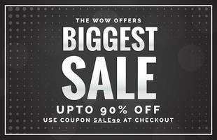 svart försäljning banner design mall