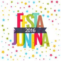 Fondo de celebración de fiesta junina 2016