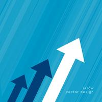 projeto de seta para o conceito de crescimento do negócio