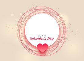 conception de bonne Saint-Valentin avec espace de texte