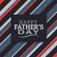 moderno giorno di padri felice lettering