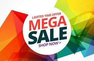 Impresionante diseño de banner de venta colorido con detalles de oferta