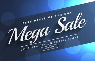 beautiful mega sale bokeh banner template design