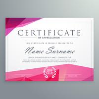 modern certificate of appreciation creative template