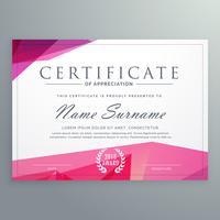certificado moderno de modelo criativo de agradecimento