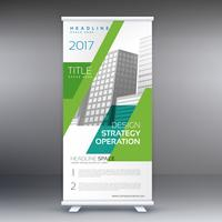 company presentation banner in roll up style
