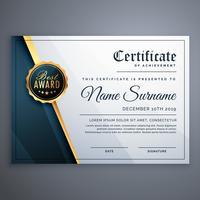 modelo de design de prêmio de certificado de prémio moderno