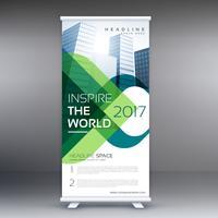 Empresa enrollable presentación de banner