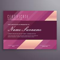 purple stripe certificate design template