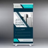 Standee business roll up banner disegno vettoriale