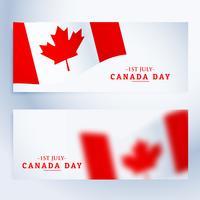 banners uppsättning av canada dag