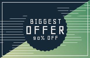 erbjudanden och rabatt banner design för din marknadsföring