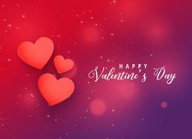 valentins dag röda hjärtan bakgrundsdesign