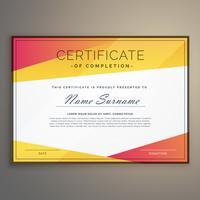 vector de plantilla de diseño certificado geométrico