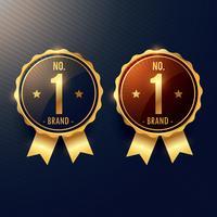 Nein. 1 Marken-Goldenes Label und Abzeichen in zwei Farben
