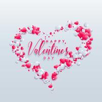 kreatives Valentinstagherz-Hintergrunddesign