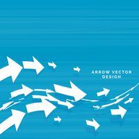 flechas onduladas avanzando diseño de concepto