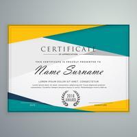 abstract geometrisch certificaatsjabloonontwerp
