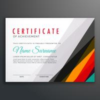 modern certificate design template with colorful lines