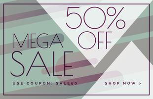 mega sale offer discount banner voucher template design
