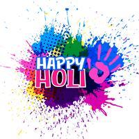 salpicaduras de colores para feliz festival de holi