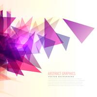 abstracte uitbarsting van roze en paarse driehoeken vorm
