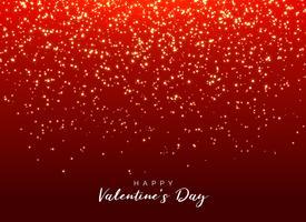 roter Hintergrund mit funkelndem Funkeln zum Valentinstag