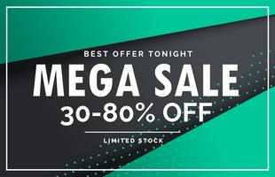 mega sale banner voucher card design template