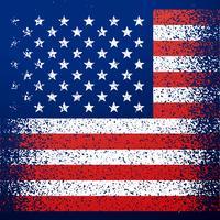 grunge texturerad amerikanska flaggan bakgrund